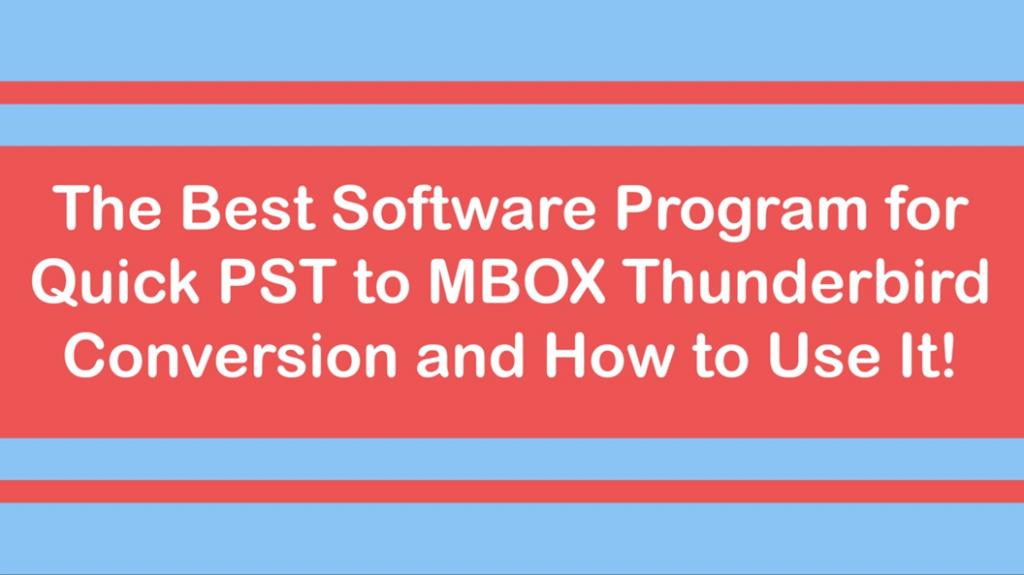 convert pst to mbox thunderbird