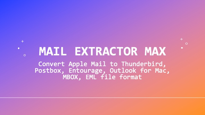 export apple mail to postbox